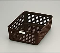 Inomata 4583 Name B5 Basket, Brown