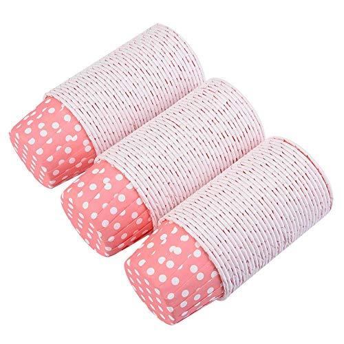 Fdit 100 PCS Medium Cupcake Liners Papier Gâteau Rond Gobelets Tasses Muffin Cas De Mariage Partie À La Maison(Rose)