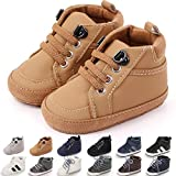 KaKaKiKi Baby Boys Girls High Top Sneakers Soft Soles Anti Skid Infant Ankle Shoes Toddler Prewalker First Walking Crib Shoes (B01_Yellow/, 6_Months)