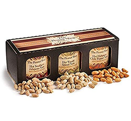 The Peanut Shop of Williamsburg Hot amp Savory Nut Gift Box Spicy 2 Pound