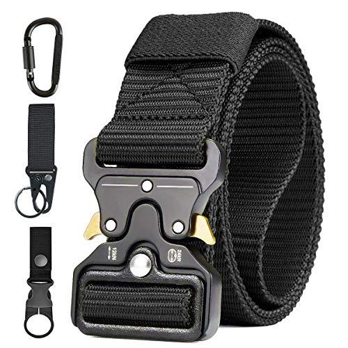 AivaToba Taktischer Gürtel Unisex Nylon Taktik Survival Cobra Security Gürtel Militär Armee Taillenband mit Schnellspanner Metallschnalle für Outdoor Arbeit Jagen,125cm