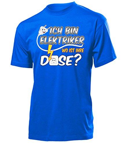 Ich Bin Elektriker wo ist ihre Dose Geschenk Herren Männer t Shirt Tshirt t-Shirt Arbeitskleidung Handwerker BAU Lustig Sprüche Fun zubehör Bekleidung Oberteil Hemd Kleidung Outfit ausrüstung Artikel