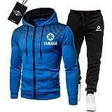 Gyulyaydin de Los Hombres Chandal Conjunto Trotar Traje Ya.M_Aha-s Hooded Zipper Chaqueta + Pantalones Deporte R Deportes/blue/L