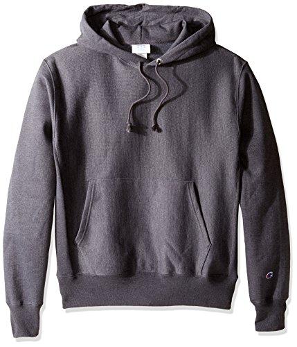 Champion LIFE Men's Reverse Weave Pullover Hoodie, Granite Heather, L