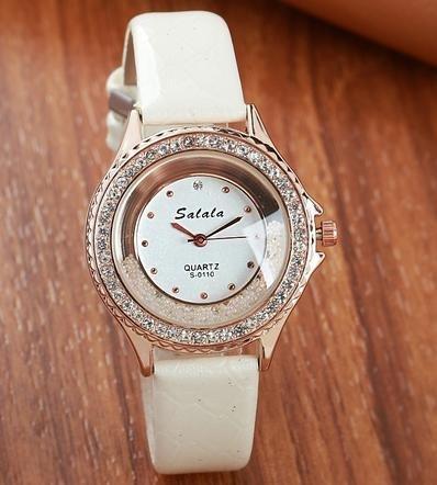 Diamanti moda donna orologio da polso, White