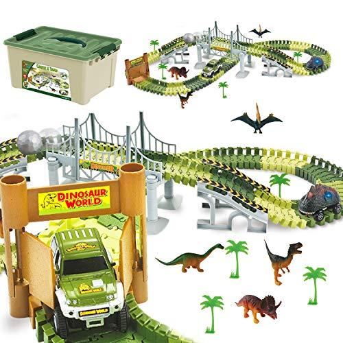 Product Image of the ToyVelt Dinosaur Toys Race Track Toy Set - Create A Dinosaur World Race 2021...