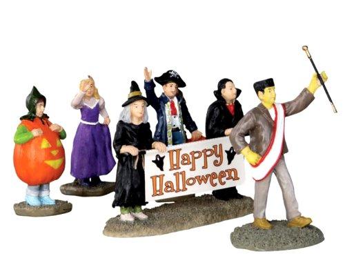 Lemax 32115 Halloween Parade Banner Spooky Town Figure Set of 5 Decor Figurine