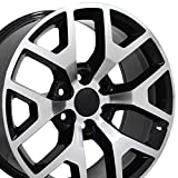 OE Wheels LLC 22 inch Rim Fits GMC Sierra Honeycomb Wheel CV92 22x9 Mach'd Wheel Hollander 5656