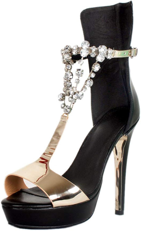 CASSOCK Ladies Handmade High Heel Sandals Jewllry T-Strap Sexy Prom Bar Fashion shoes