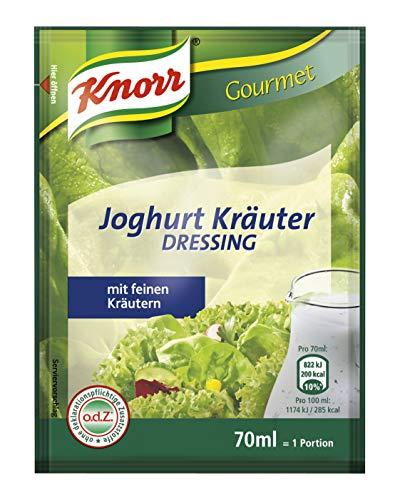 Knorr Joghurt Kräuter Dressing Portionsbeutel (cremig und frisch) 20er Pack (20 x 70ml)
