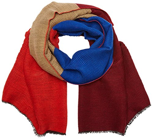 s.Oliver Damen 39709912879 Schal, Blau (Blue Stripes 56G2), One Size
