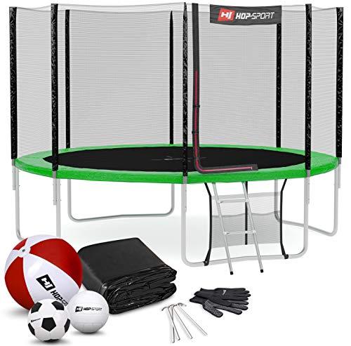 Hop-Sport Trampoline rond 244, 305, 366, 427, 488 cm trampoline de jardin avec filet extérieur;...