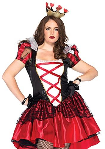Leg Avenue - 86166x08011 - Déguisement pour Enfant - Modèle 86166x - Costume Taille Plus Royal Red Queen - 1x-2x - Noir/Rouge