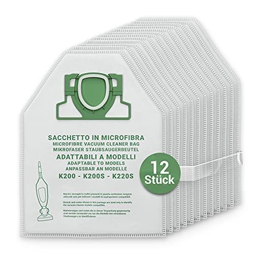 Staubsaugerbeutel 12 Stück Ersatz für Vorwerk Kobold 200 VK200 FP200 Filtertüten Filterbeutel Staubbeutel Mikrofaser für Staubsauger Bodenstaubsauger