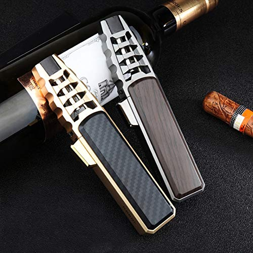 Outdoor Pen Spray Jet Torch Lighter,Turbo Gas Kitchen BBQ Metal Windproof Pipe Lighter Gadgets for Men,Adjustable Flame and Refillable,Collection Gift(Gas Not Included) (Black)