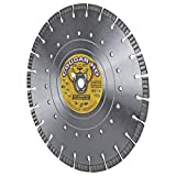 Cougar Heavy-Duty 14-inch (14') Dry/Wet Concrete Diamond Blade, Supreme Quality with Laser-Welded 12MM Tall Segments