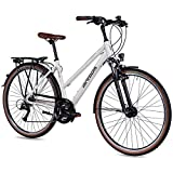 Airtracks DamenTrekking Fahrrad 28 Zoll Trekkingrad TR.2820 Weiß Matt (52cm (Körpergröße 170-185cm))