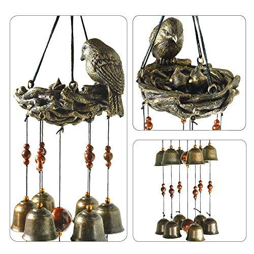 Fenteer Carillon à Vent Carillons éoliens pour Oiseaux Objets de Décoration - 63x13cm