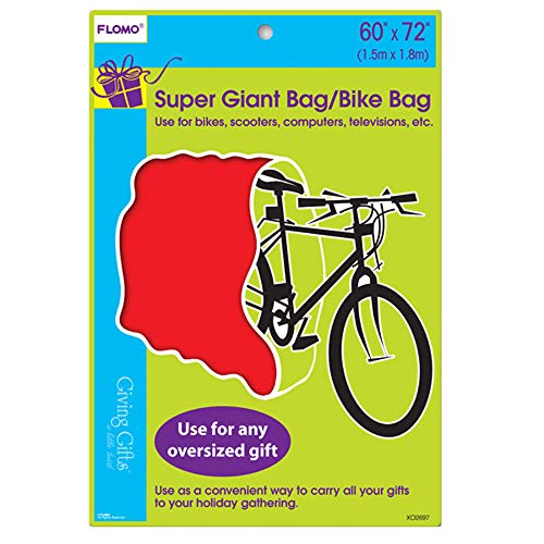 Super Giant Plastic Jumbo Bicycle Red Gift Bag 60' x 72' Perfect to Wrap Christmas Gift