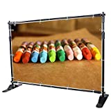 x frame banner stand - VEVOR 8X 8 Ft - 10 x 8 Ft Backdrop Banner Stand Newest Step and Repeat for Trade Show Wall Exhibitor Photo Booth Background Adjustable Telescopic Height and Width