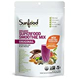 Sunfood Organic Superfood Smoothie Mix- Original Flavor | New Plant-Based Protein Blend (Pea, Hemp,...