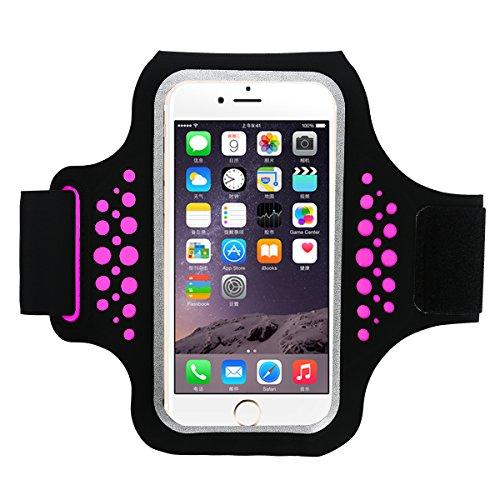 HAISSKY Sportarmband Handy Universal Sport Armbänder Armtasche Kompatibel mit iPhone 12/11 Pro Max/XR/XS Max Galaxy S20/S10/Note 10 Huawei P20 Pro/P30 Pro/Mate 30 Handytasche für Running Joggen