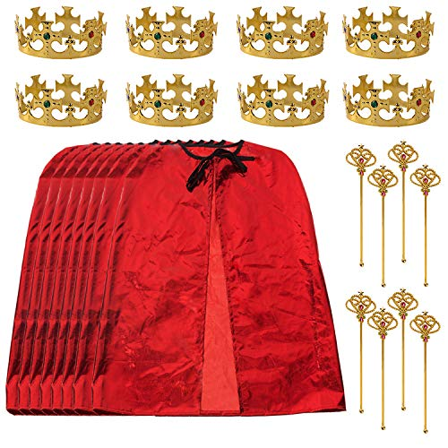 King Party Set for Children- 24 pc set- Royal King Costume Set for Kids- Dress Up for Pretend Play- Child Role Play- Costume Accessories by Tigerdoe