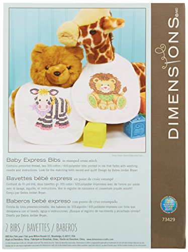 Dimensions kruissteek-set (incl. sjabloon, naald en handleiding), Bibs Baby Express
