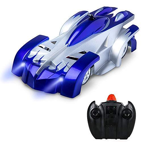 Kobwa RC Spielzeug-Auto, Funktionen: Fahren und Klettern, Mini-Auto, Kinderspielzeug, mit Fernbedienung, elektrisches Spielzeug, mit vertikalen Stunts / Klettern an der Wand blau
