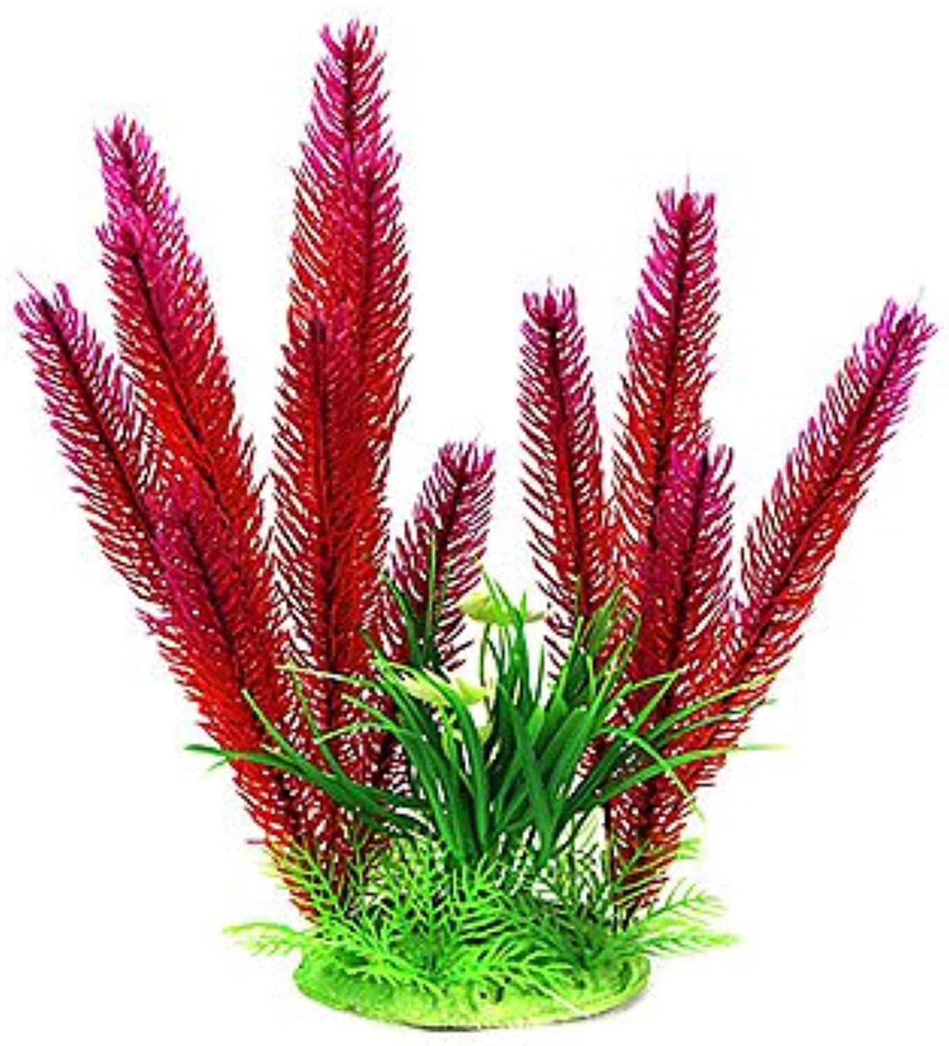 Quick shopping 33cm Red Simulation Plants for Fish Tank Decoration