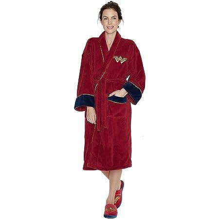 Groovy Marvel Comics Captain Marvel Adult Fleece Bathrobe//Dressing Gown