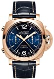 Panerai Luminor Yachts Challenge Chronograph Flyback 44mm Solid Rose Gold Blue Dial