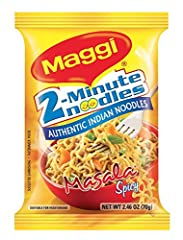 Bringing you a classic snack directly from India, 2-Minute Masala Spicy Noodles are perfectly convenient for the snacking occasion. Maggi Masala Spicy Noodles are an excellent on-the-go meal by themselves and are delicious to use in soups, salads, fr...
