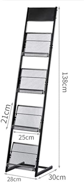 Magazine Rack Newspaper Rack Information Rack Storage Display Rack Brochure Book Rack Single Page Landing Simple Wrought Iron C