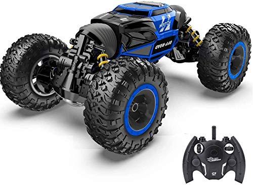 Wghz Coche RC Niños Juguetes Off Road Coche de Control Remoto 2.4Ghz 4WD Motores eléctricos Vehículos Buggy Hobby Coche de Carreras eléctrico al Aire Libre para niños y Adultos Regalos para niños
