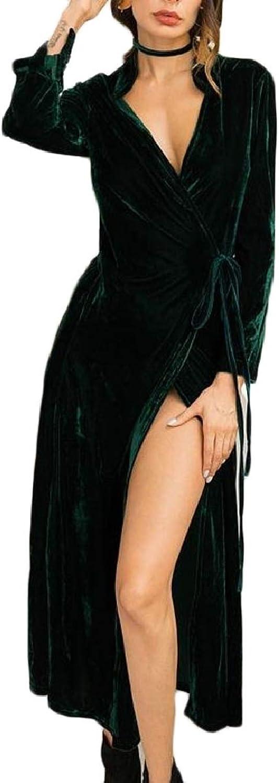 Xswsy XGCA Women's Laceup Drape Long Coat Flannel Fashion Cardigan