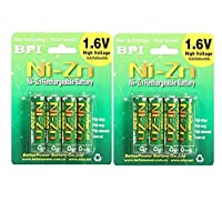 8pcs/lot Rechargeable BPI AA 2500mWh NI-Zn NI Zn NIZN 1.6V Battery With Case for Toys, MP3, Camera +