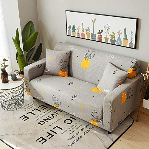 WXQY Funda elástica para sofá, Funda elástica para sofá, sillón en Forma de L, Funda combinada para sofá, Toalla, Funda para sofá, Funda Protectora para Muebles A7, 2 plazas