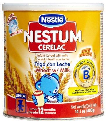 Nestum Cerelac Probiotics - Infant Wheat Cereal w/ Milk-14.1 oz. (Quantity of 5)