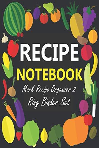 Mark Recipe Organizer 2 Ring Binder Set: Favorite Recipes-Durable Gloss Laminated Cover.