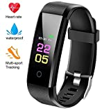 Fitness Trackers, Activity Trackers with Heart Rate Monitor and Sleep Monitor, Smart Band Calorie Counter,Pedometer Activity Tracker Watch Step Counter,IP67 Waterproof Fitness Watch for Kids Women Men