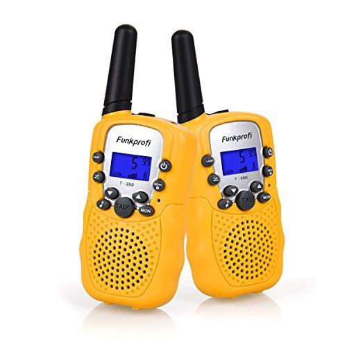 Funkprofi Walkie Talkies für Kinder, T-388 Funkgeräte für Kids ab 3 Jahre PMR 446 Reichweite bis zu 3 km 8...