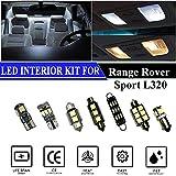Hokuotolite Kit de repuesto para luces interiores LED para Land Rover Range Rover Sport L320 2005-2013 (20 piezas)