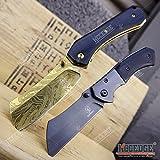 Wartech Buckshot Knives PBK222 2PC Combo Set 8' Classic Cleaver Folding Knife + 6.5' Buckshot Small Cleaver Pocket Knife (Combo 1)