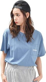 (ディーループ)D-LOOP CONVERSE コンバース 胸ポケット Tシャツ 半袖 ワンポイント刺繍 無地 カットソー レディース 124678