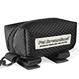 Pet Dreamland Dog Bag Dispenser - Pet Waste Bag Holder Leash Attachment - Includes one Free Roll of Poop Bags - Zippered Pouch, Hook&Loop Straps and Carabiner Clip for Easy Carry (Black)