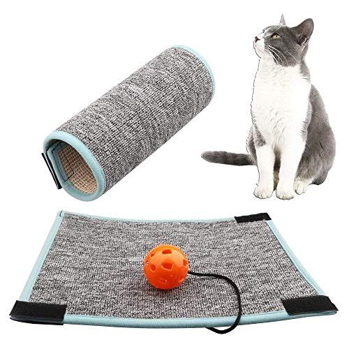 EIKLNN Alfombrilla para Rascar Gato, Rascador para Gatos de Patas de Mesa, Protector para Esquina de Sofá o Sillón, para Moler Garras y Proteger Muebles