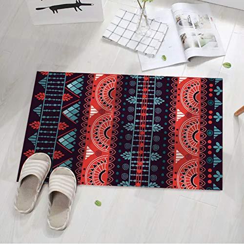 Be&xn Folk-Custom Bereichswolldecke, Handmade Anti-rutsch Kinder-Matte Für Wohnzimmer, Schlafzimmer-Rotwein 160x230cm(63x91inch)