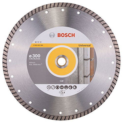 Bosch 2 608 602 586 - Disco tronzador de diamante Standard for Universal Turbo (300 x 20,00+25,40 x 3 x 10 mm)