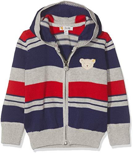 Steiff Baby - Jungen Strickjacke , Grau (QUARRY 9007) , 80 (Herstellergröße:80)
